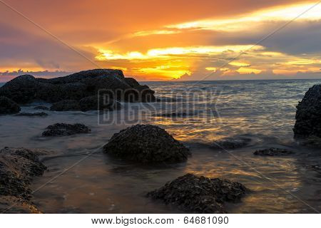 Wong Amat Beach Red Sundown.