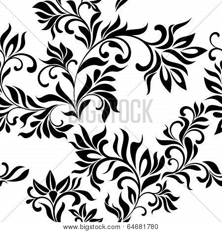 Seamless Floral Pattern On A White Background