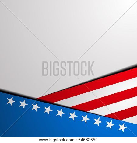 detailed illustration of a stylized patriotic star background, eps 10 vector
