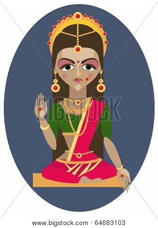 Parvati deity illustration.