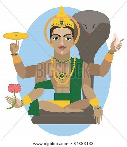 Vishnu deity illustration.