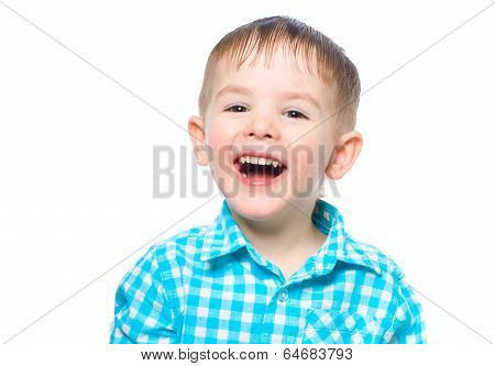 Portrait of a beautiful laughing boy