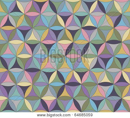 Flower Of Life Seamless Pattern Pastel