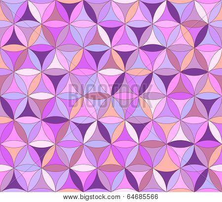Flower Of Life Seamless Pattern Purple