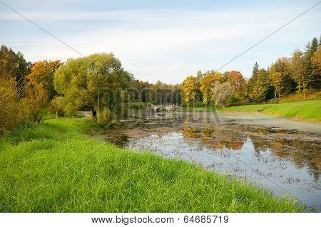Pavlovsk Park, View Of Slavyanka River, St. Petersburg