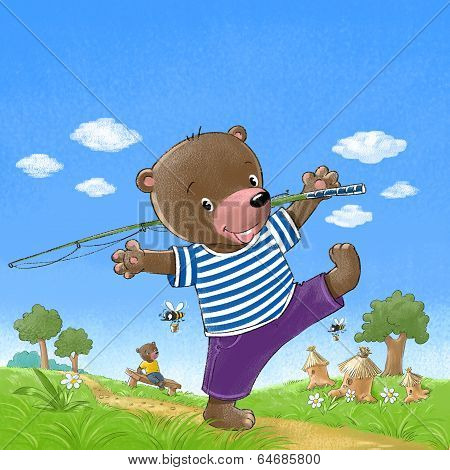 Bear go fishing