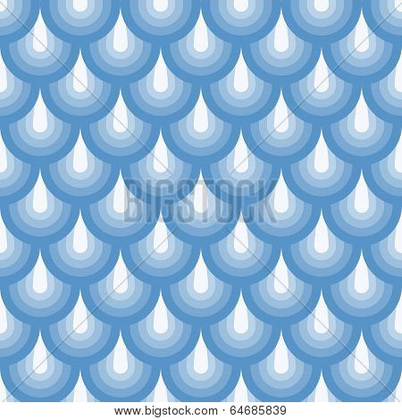 Seamless Geometric Pattern Blue Fishskin