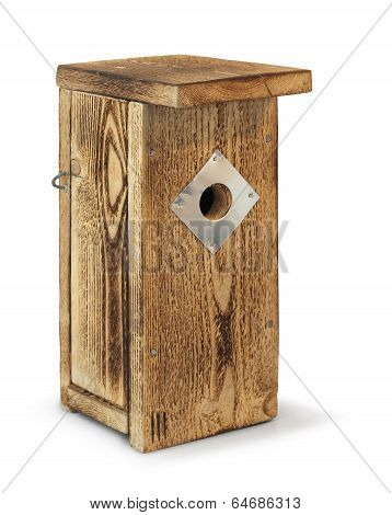 Wooden Birdhouse Isolated