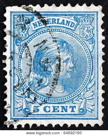 Postage Stamp Netherlands 1894 Princess Wilhelmina