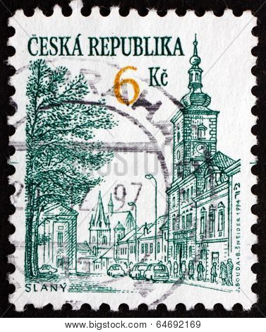 Postage Stamp Czechoslovakia 1994 View Of Slany