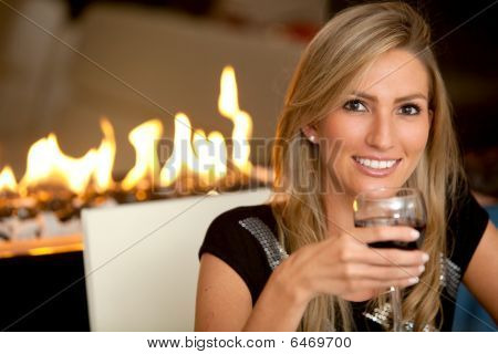 Woman At A Romantic Dinner