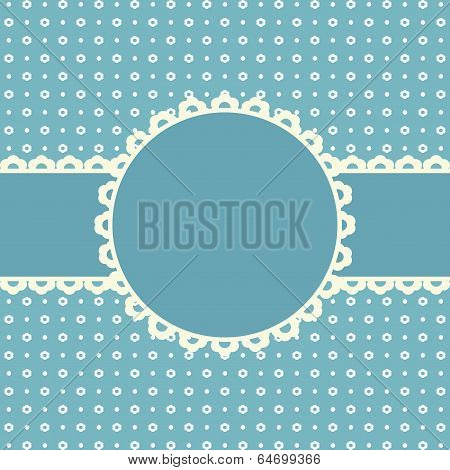 Template frame design for greeting card. A vector.