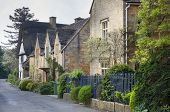 picture of english cottage garden  - Cotswold cottages in the Gloucestershire village of Stanton - JPG