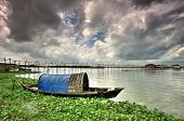 stock photo of bangladesh  - in the rainy season outside of dhaka bangladesh capital you can watch all full of water