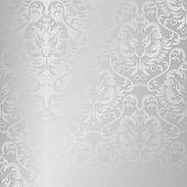pic of brocade  - seamless vector silver texture - JPG