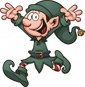 image of elf  - Cartoon Christmas elf - JPG