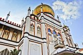stock photo of masjid  - Masjid Sultan Mosque located at Muscat Street and North Bridge Road within the Kampong Glam district of Rochor Planning Area in Singapore - JPG