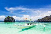 picture of filipino  - Filipino boat in the sea El Nido Philippines - JPG