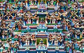 Image of detail of meenakshi temple in madurai india.