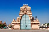 stock photo of shakti  - Shri Adhya Katyani Shakti Peeth Mandir is popularly known as Chhatarpur Temple - JPG