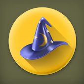 picture of wizard  - Wizard hat and old book - JPG