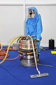 picture of biological hazard  - Hazmat suit for protection from dangerous biological and chemical materials - JPG