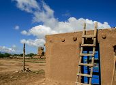 pic of pueblo  - Detail from Taos Pueblo in New Mexico - JPG
