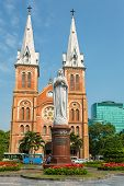 stock photo of notre dame  - Saigon Notre Dame Basilica in Ho Chi Minh City - JPG