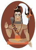 pic of shiva  - vector illustration of Hindu deity lord Shiva - JPG