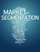 stock photo of market segmentation  - Word Cloud with Market Segmentation related tags - JPG
