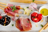 picture of antipasto  - italian appetizer  - JPG