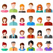 pic of avatar  - illustration of flat design people icon - JPG