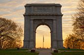 stock photo of revolutionary war  - The National Memorial Arch monument dedicated to George Washington and the United States Continental Army - JPG