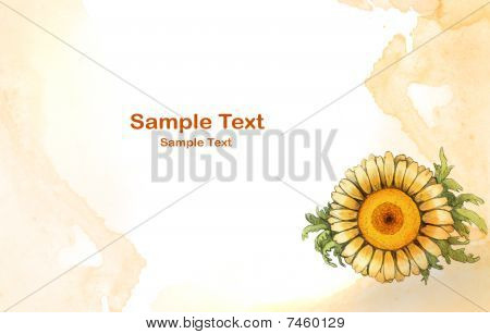 Background with watercolor flower