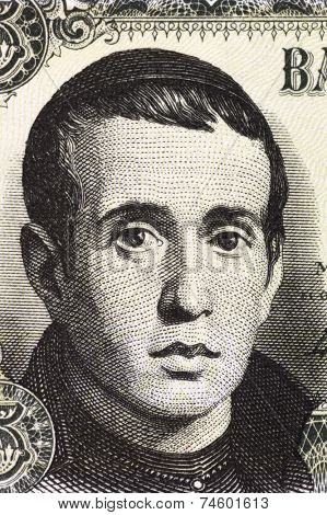 SPAIN - CIRCA 1951: Jaime Balmes (1810-1848) on 5 Pesetas 1951 Banknote from Spain. Spanish Catholic priest known for his political and philosophical writing.