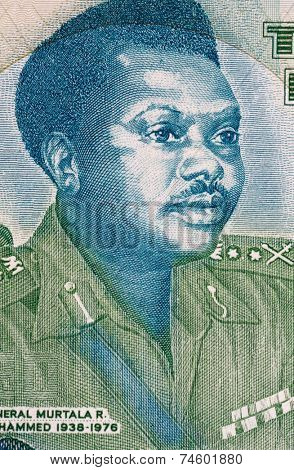 NIGERIA - CIRCA 2003: Murtala Mohammed (1938-1976) on 20 Naira 2003 Banknote from Nigeria. Military ruler of Nigeria during 1975-1976.