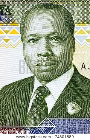 KENYA - CIRCA 1990: Daniel arap Moi (born 1924) on 10 Shilingi 1990 Banknote from Kenya. President of Kenya during 1978-2002.