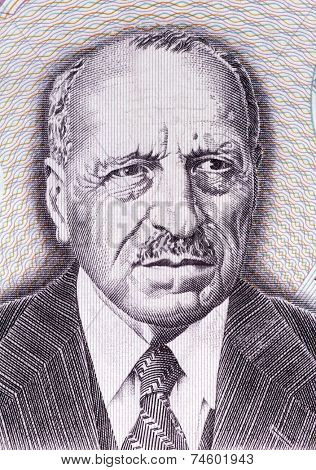 GREECE - CIRCA 1995: Georgios Papanikolaou (1883-1962) on 10000 Drachmes 1995 Banknote from Greece. Greek pioneer in cytopathology and early cancer detection. Inventor of the
