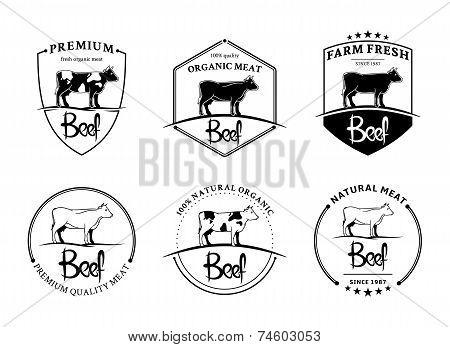 Vintage Beef Labels