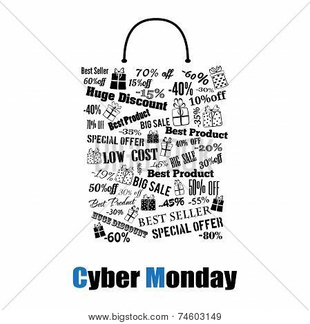 Cyber Monday Shopping Bag