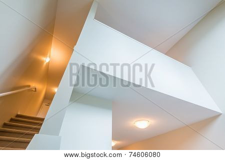 Fragment of abstract architecture interior, exterior building construction design.