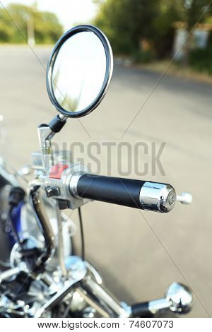 Motor bike detail, close-up