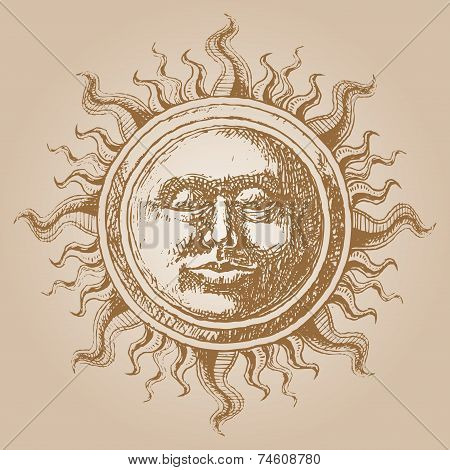 Old-fashioned sun decoration