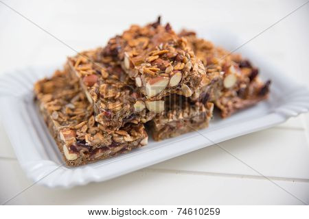 Home made organic granola bars