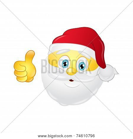 Santa emoticon with a beard