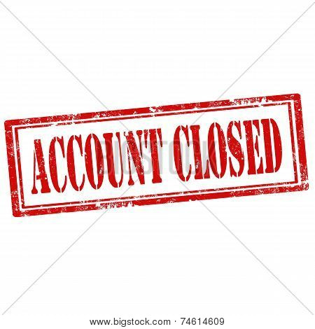 Account Closed-stamp