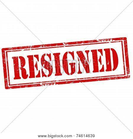 Resigned-stamp
