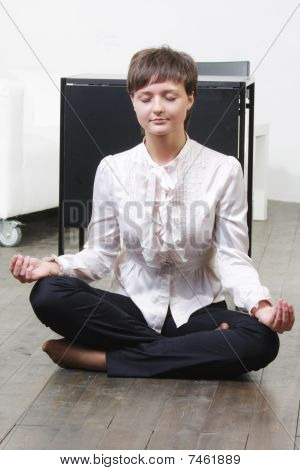 Businesswoman In Yoga Pose