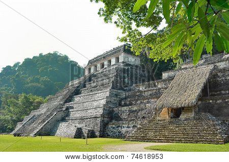 Palenque Ancient Mayan Temples Of The  Inscriptions