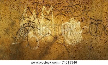 Graffiti on Concrete Wall